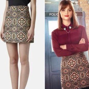 Topshop folk jacquard skirt size 6